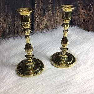 "Other - Candle Sticks Holders 5"" Baldwin Solid Brass"